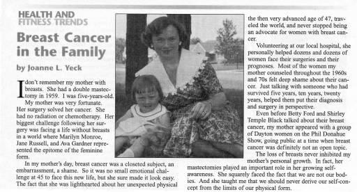 Joanne L. Yeck_Breast Cancer